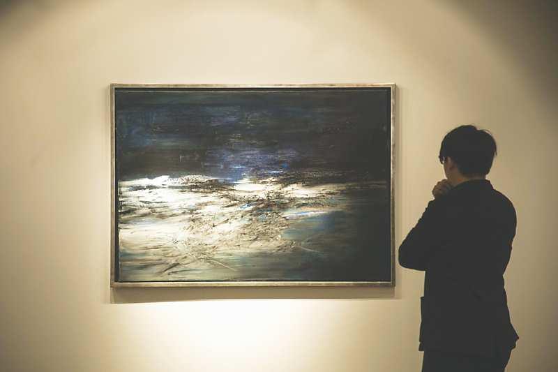 →趙無極畫作是今年多家國際拍賣行春拍領拍作品。 圖/蘇富比