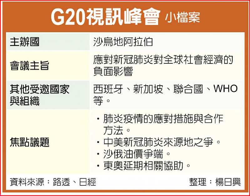 G20視訊峰會小檔案