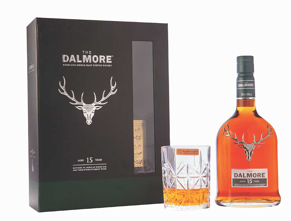 ●「大摩15年單一麥芽蘇格蘭威士忌」春節限量禮盒。建議售價:2,650元。圖/業者提供