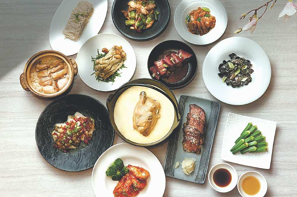 ↓〈請客樓〉的〈米其林四人餐〉每套4,800元。圖/台北喜來登飯店