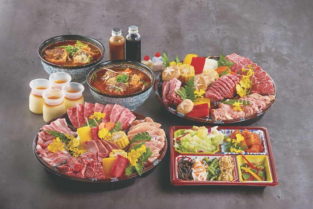 「輕鬆豬雞燒肉組」 圖/燒肉的名門-赤虎