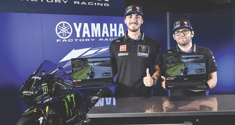 Monster Energy Yamaha MotoGP eSport Team兩名賽車手Lorenzo Daretti及Michael Amara,在Yamaha Motor Racing Srl的新合作夥伴微星MSI電競PC裝備推助下,分別於MotoGP eSport全球系列賽和新星錦標賽中拿下冠軍。 圖/Yamaha Motor Racing Srl提供