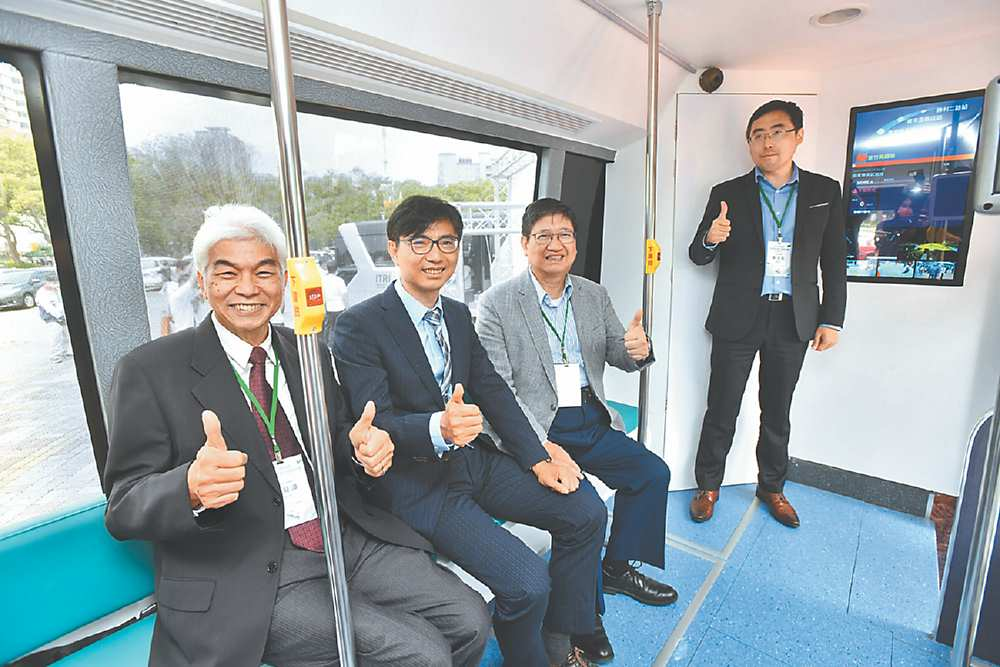 ↗新竹縣高鐵自駕接駁運行四月舉行啟動儀式。 圖/工研院